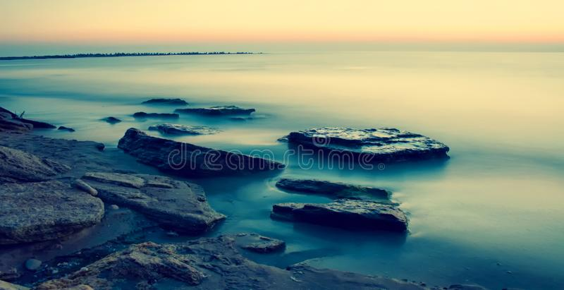 Sea beach. Relaxion royalty free stock photography