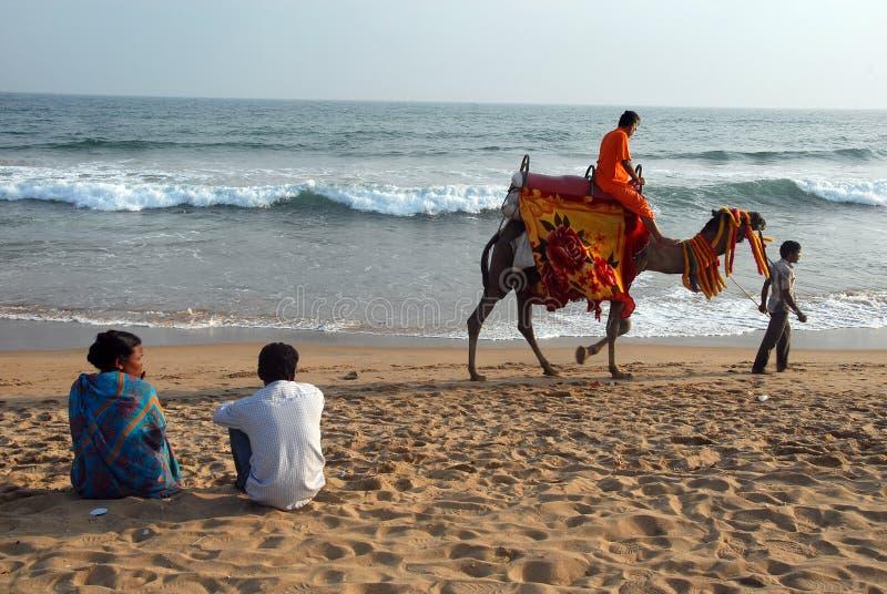 Sea Beach of Orissa royalty free stock photo