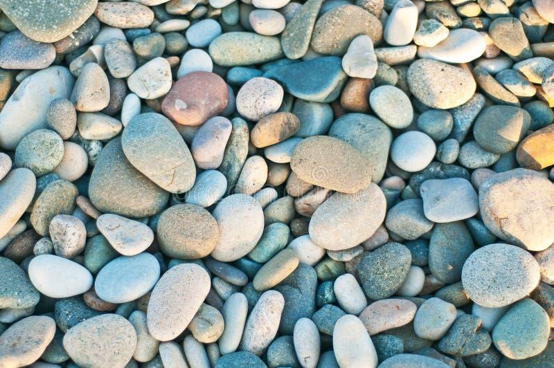 Sea beach of pebbles royalty free stock photography