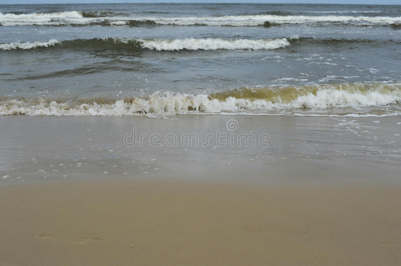 Download Sea and beach on rainy day stock image. Image of water - 31913083