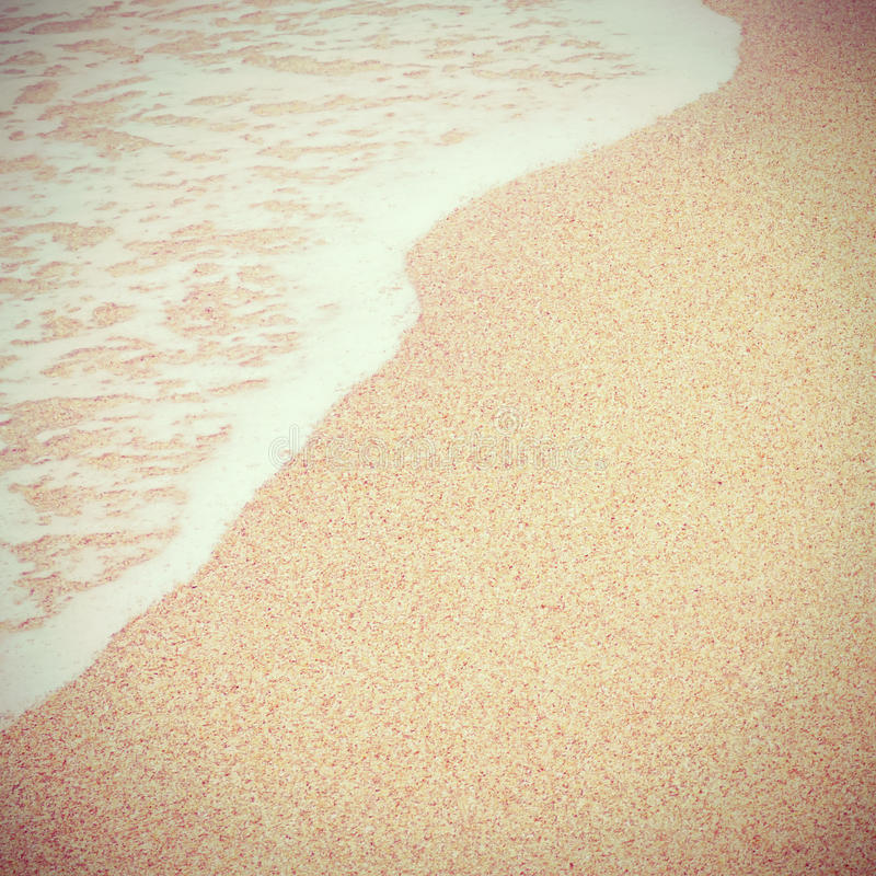 Sea beach. With retro filter effect stock images