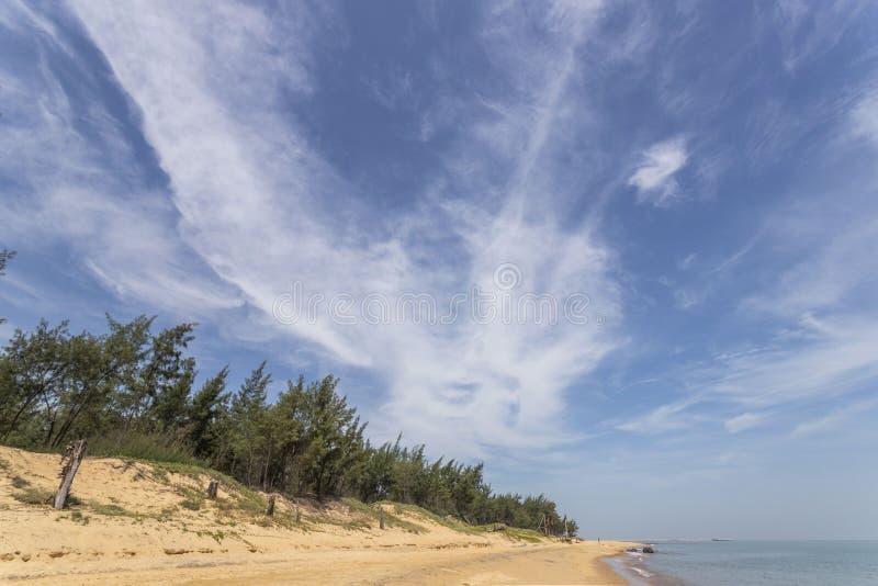 Sea beach sky clouds blue royalty free stock image