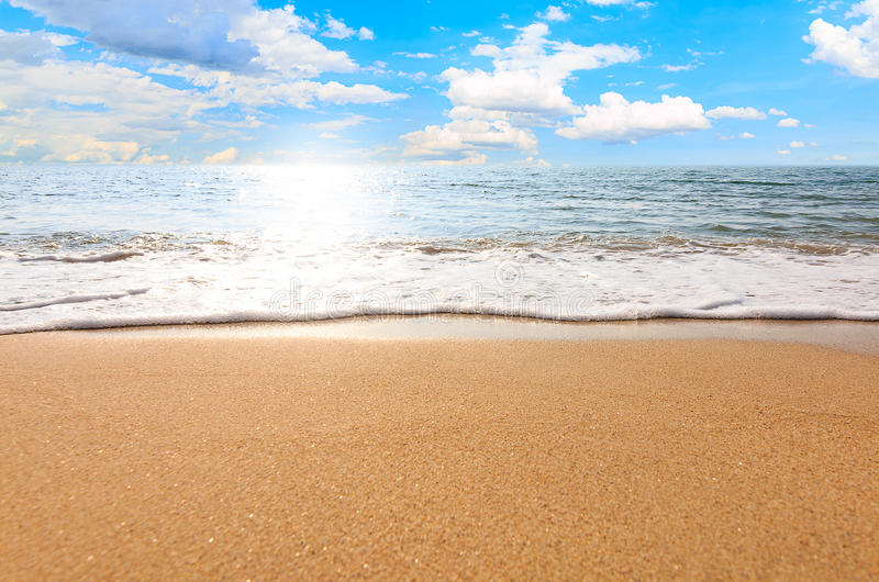 Sea beach sky relaxation landscape stock images