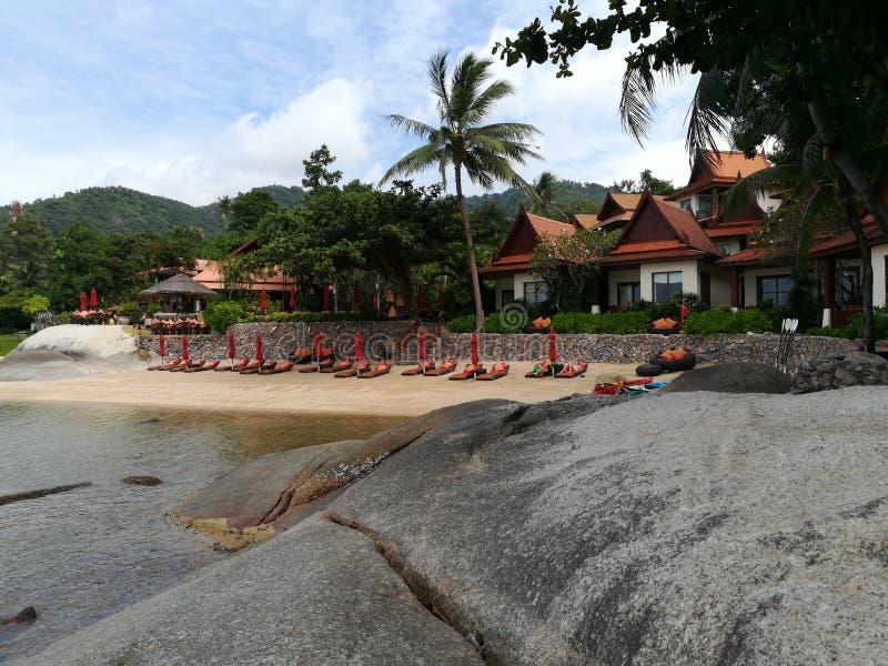 Sea+Beach sur le samui de KOH photos libres de droits