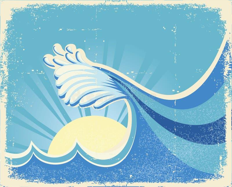 Download Sea big wave stock vector. Illustration of ocean, vector - 22911881