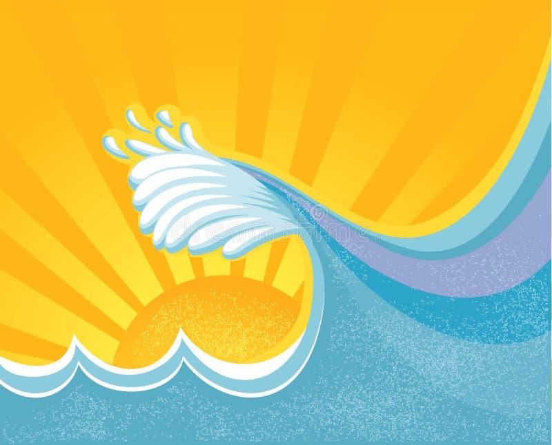 Download Sea big wave. stock vector. Image of symbol, poster, background - 22911886