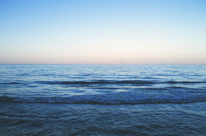 The sea. Blue sea background, tranquil scene royalty free stock photos