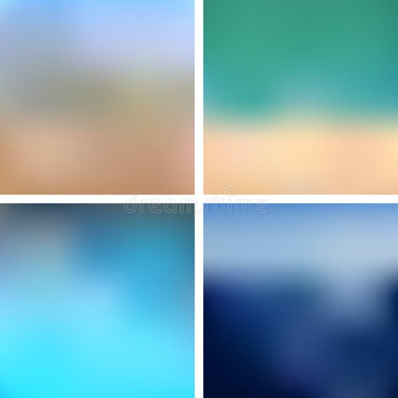 Sea Blurred Backgrounds stock illustration
