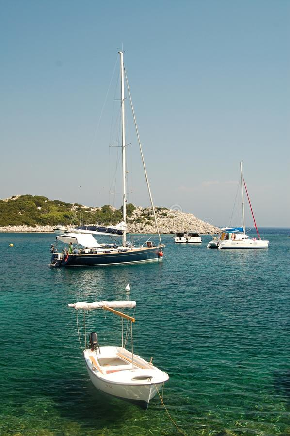 Sea and boats royalty free stock photos