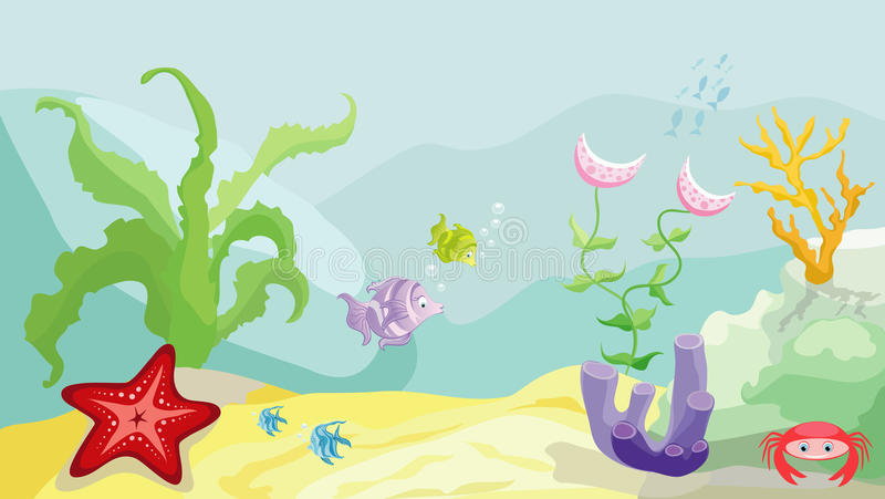 Download Sea bottom stock vector. Image of green, group, shadow - 14169083