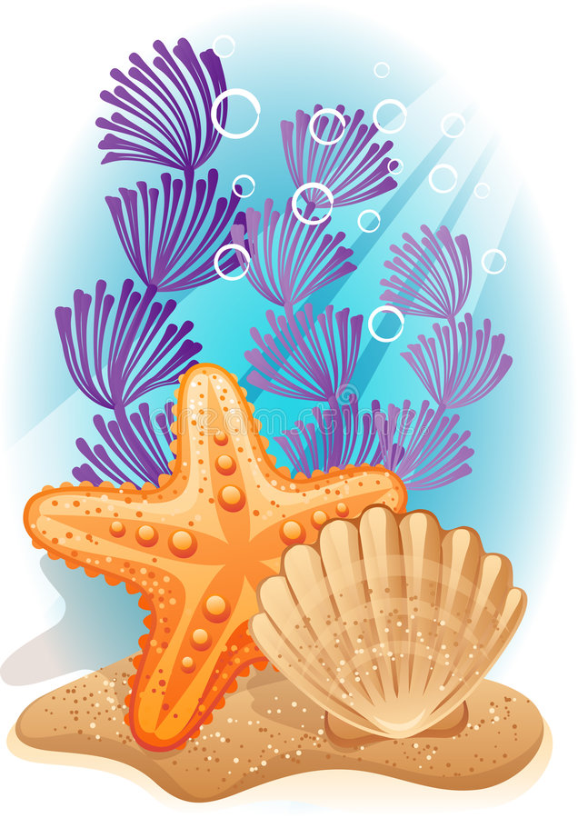 Sea bottom stock illustration