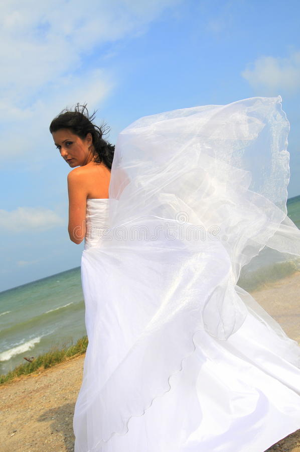 Sea bride royalty free stock photos