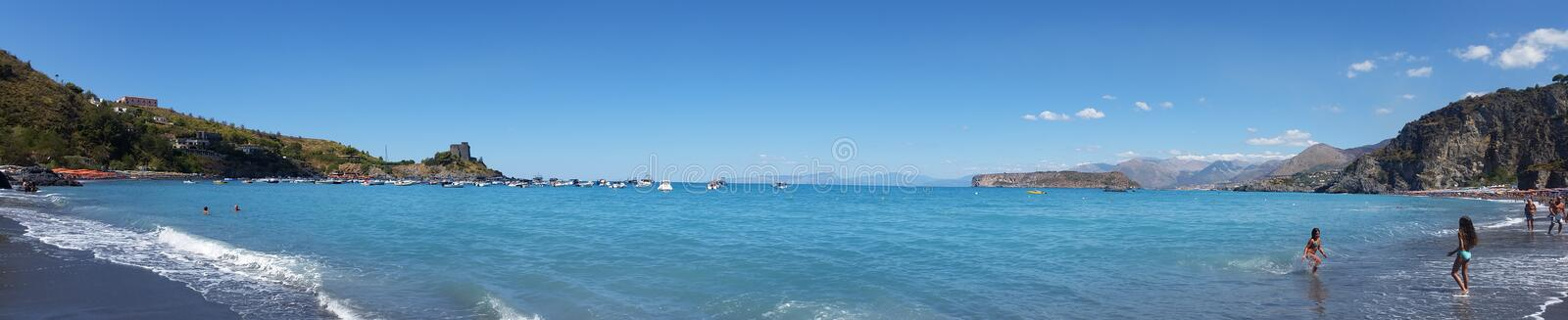 Sea of Calabria royalty free stock photography