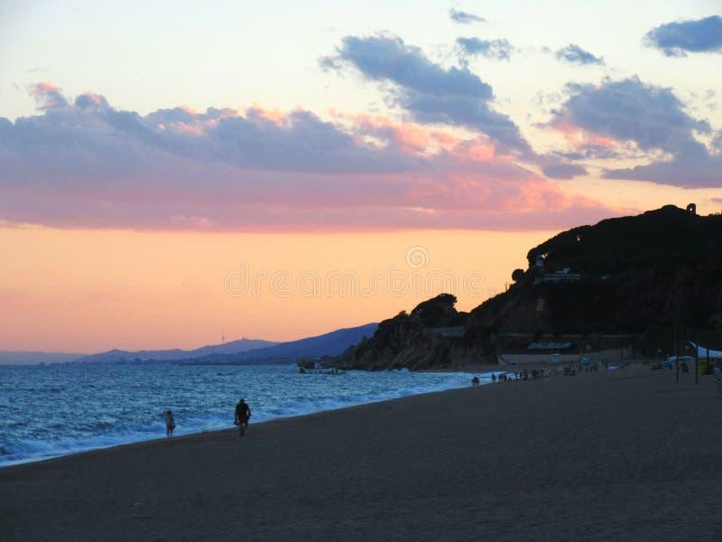 Sea. Calella. stock photo