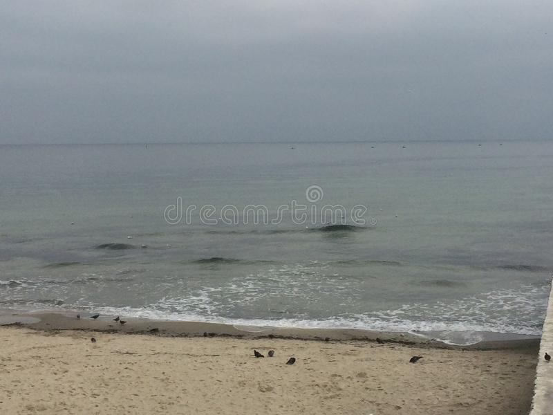 Sea, calm, beach, water, relax. europe. nature. black sea stock photography