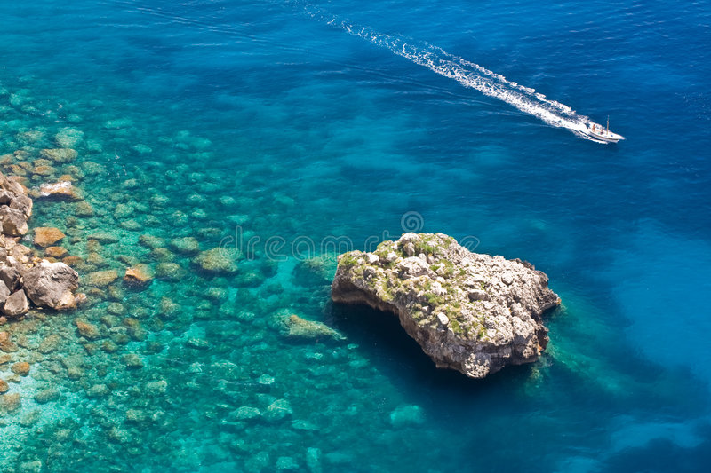 Download Sea in Capri stock photo. Image of surface, high, blue - 2793638