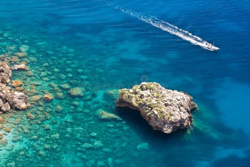 Sea in Capri royalty free stock photos