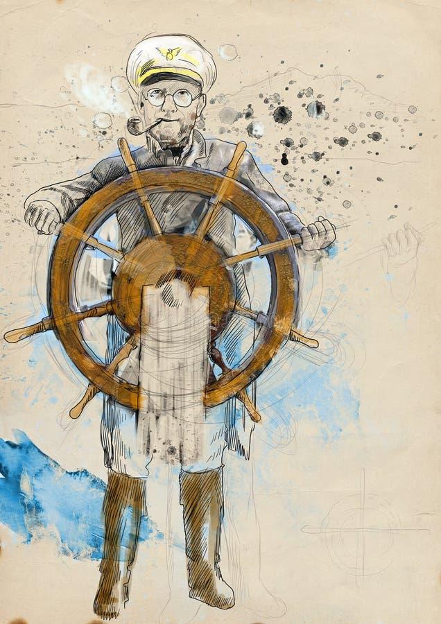 Download Sea captain stock illustration. Illustration of illustration - 29209676