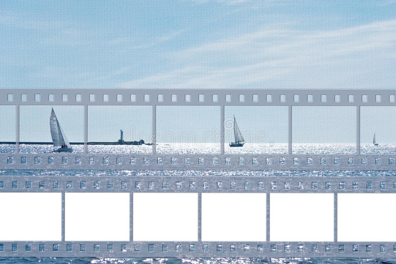 Sea card with film royalty free stock photo