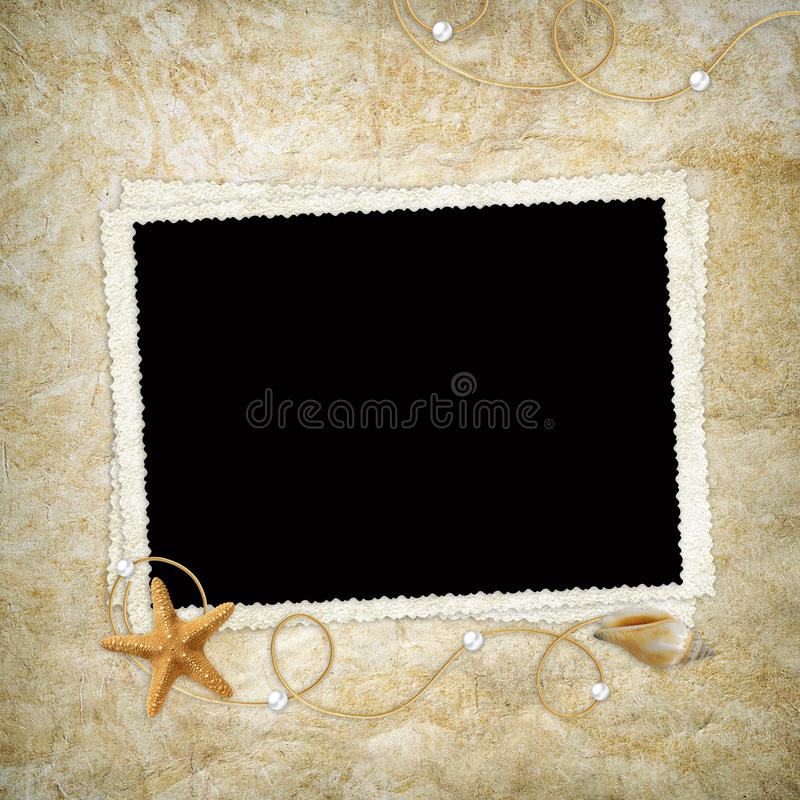 Free Sea Card For The Holiday Stock Images - 15322114