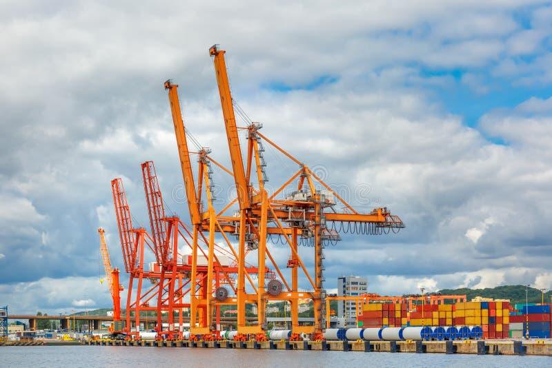 Sea cargo port in Gdynia, Baltic, Poland stock photo