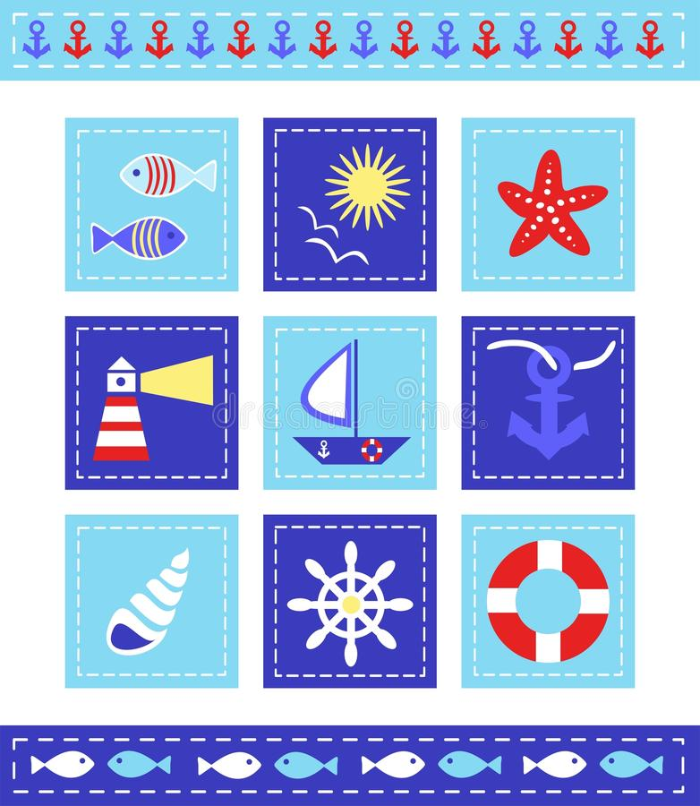 Download Sea Cild Scrapbook Elements Stock Vector - Image: 24213864