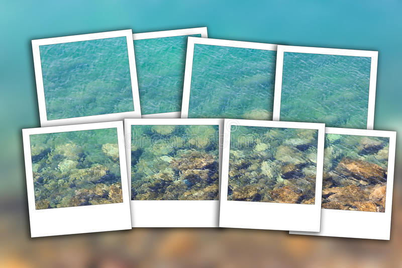 Sea clean blur instant photo 2 royalty free stock photography