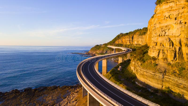 Sea cliff bridge scenic drive royalty free stock photography
