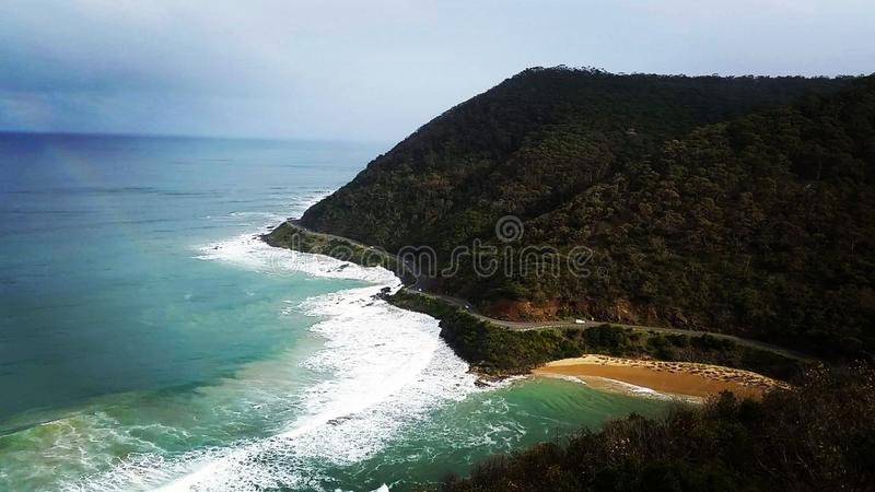 Sea Cliff at Daytime royalty free stock photos