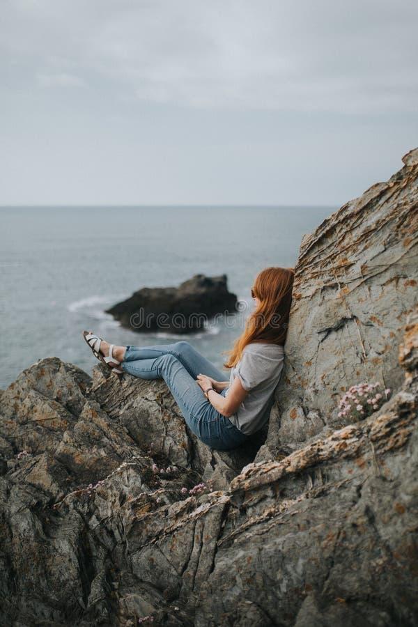 Sea, Cliff, Rock, Coast royalty free stock photos