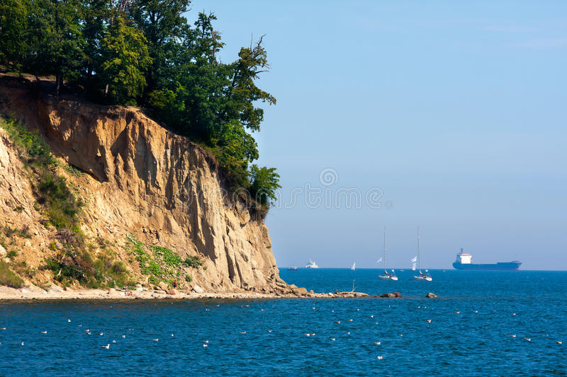 Download Sea Cliff stock image. Image of landmark, travel, poland - 38647793