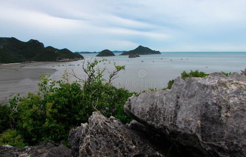 Sea, cliffs, sky stock images