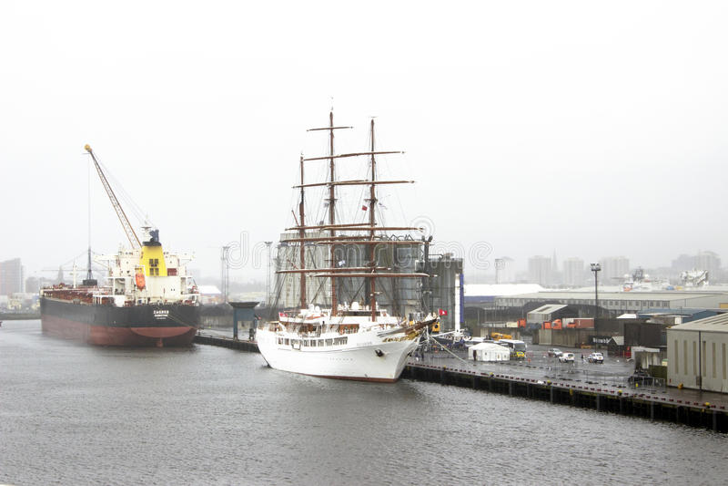 Sea Cloud II - Zagreb - Belfast Port royalty free stock photo