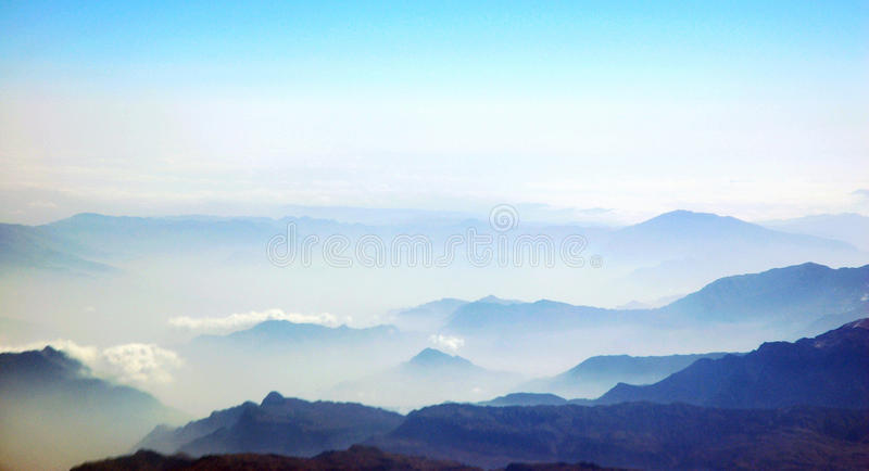 Sea of clouds royalty free stock photo
