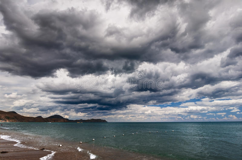 Download Sea and clouds stock photo. Image of outdoor, color, storm - 26465550