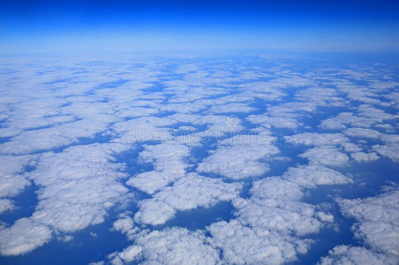 The sea of clouds royalty free stock photography