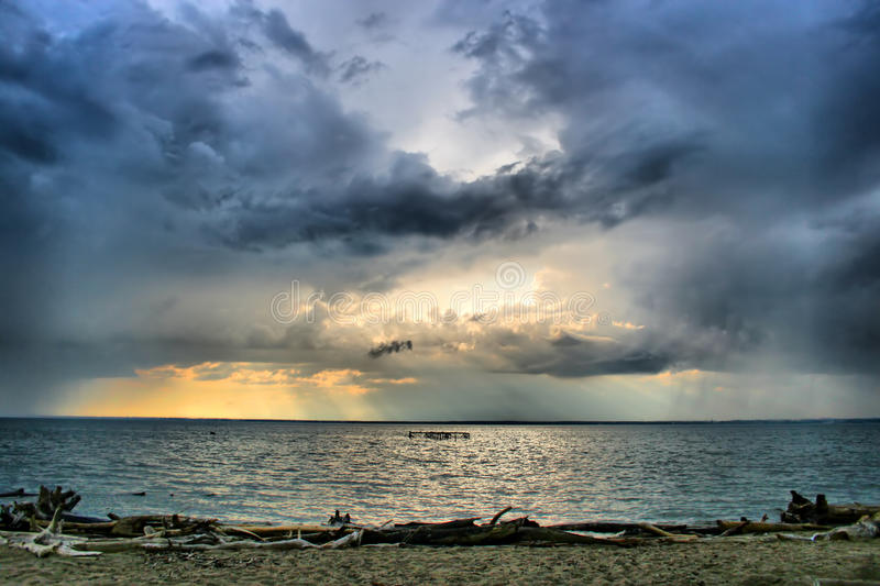 Sea and clouds landscape royalty free stock photography