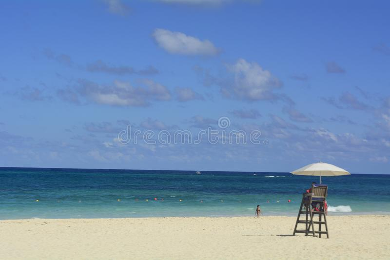 Sea, clouds, sand, people, sky, holidays, trip royalty free stock photo
