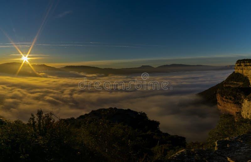 Sea of clouds stock photos
