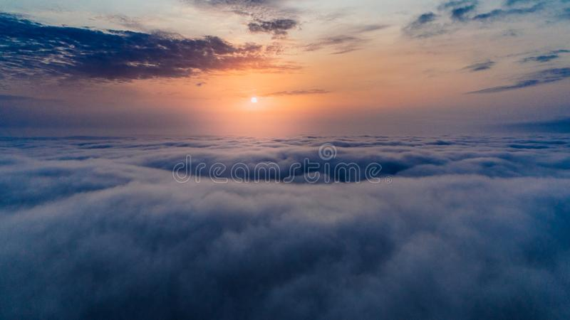 Sea of Clouds during Sunset royalty free stock photography