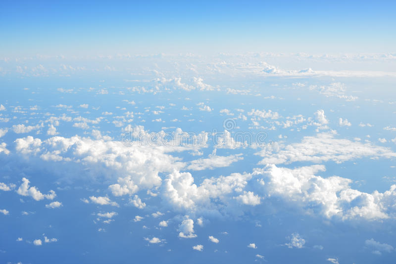 Sea and Coast - beautiful top view from the window of plane stock photography
