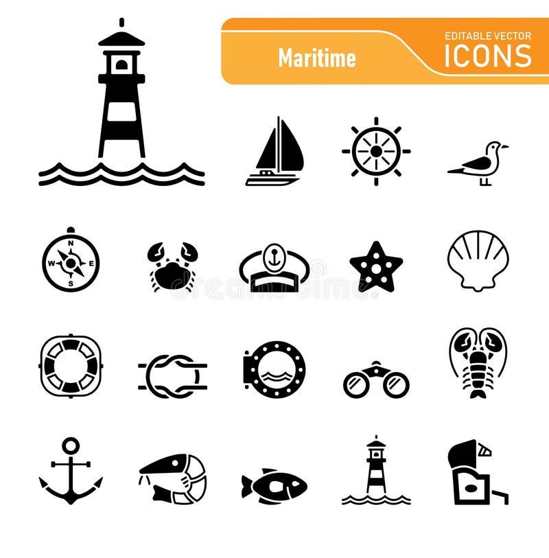 Sea & Coast - Editable Vector Icons royalty free stock photo
