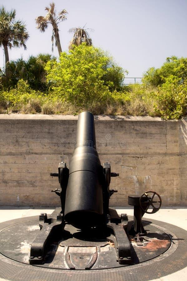 Sea Coast Mortar, Fort De Soto, Florida royalty free stock image