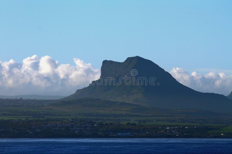 Sea coast and mountain. Mauritius. 22-01-2016 stock photo
