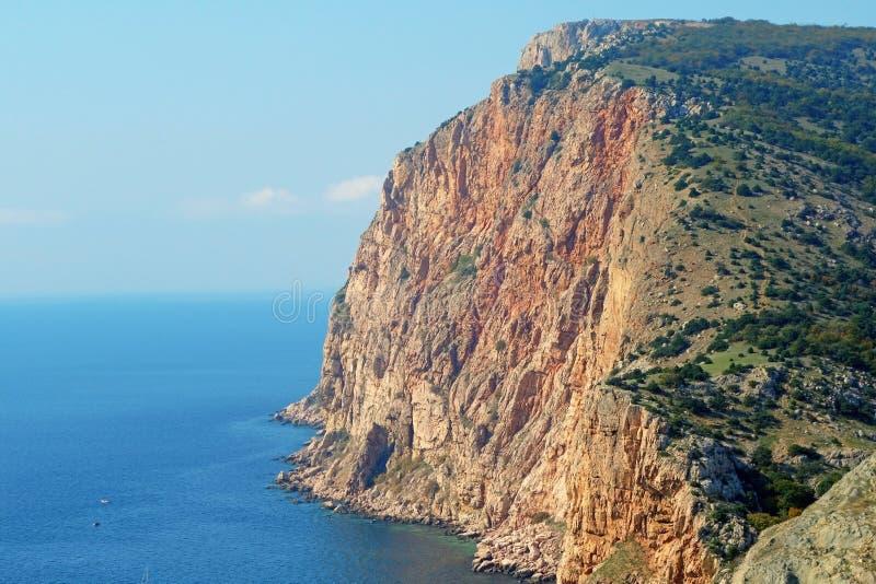 Sea coast. Rocky coast of Black sea about a city of Sevastopol royalty free stock images