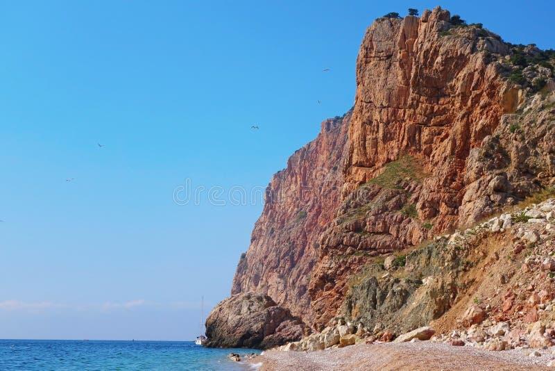 Sea coast. Rocky coast of Black sea about a city of Sevastopol royalty free stock photos