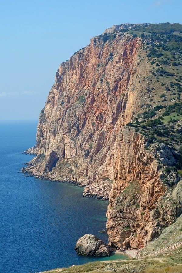 Sea coast. Rocky coast of Black sea about a city of Sevastopol stock photography