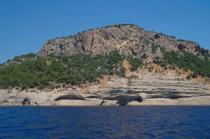 Download Sea coast,Turkey. stock photo. Image of rock, cliff, natural - 26602228