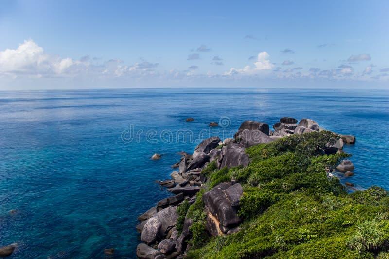 Download Sea coastal landscape stock image. Image of andaman, hill - 28484087
