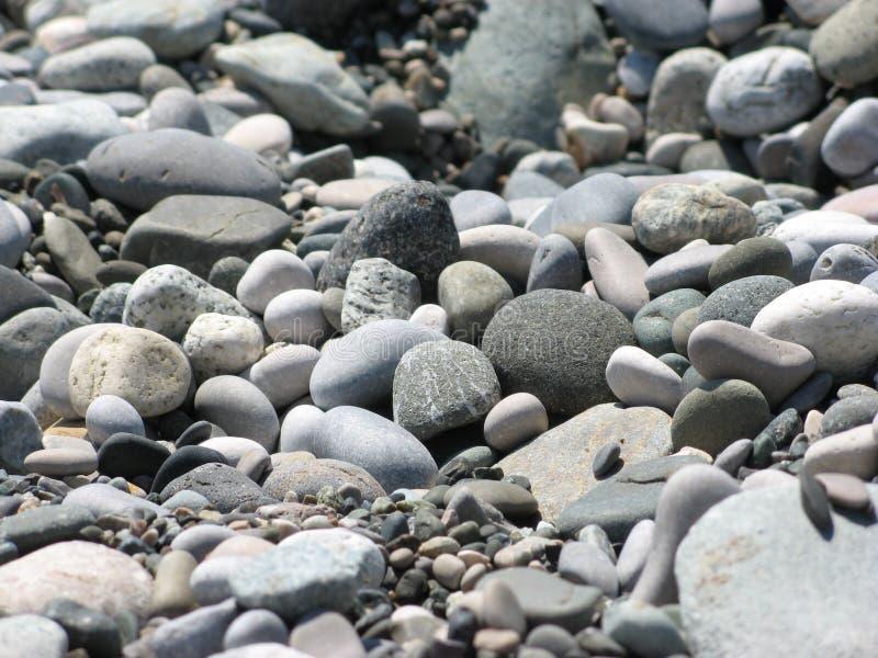 Sea cobblestone Texture. Sea cobblestone on the seashore royalty free stock photo
